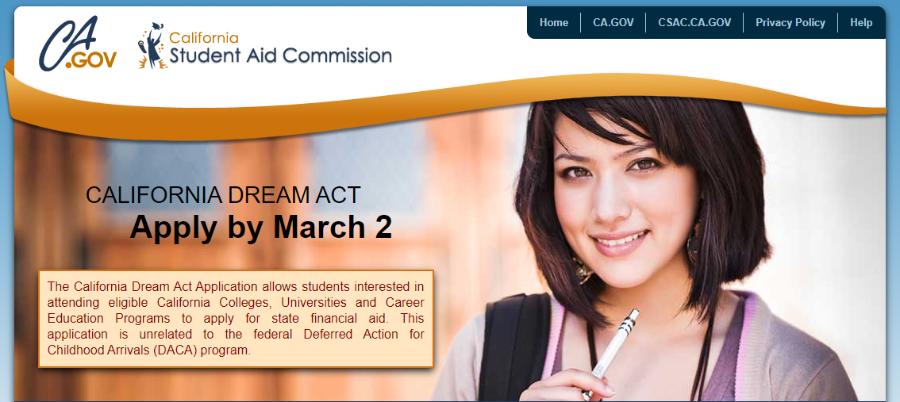 California Dream Act Application