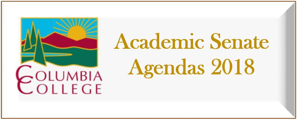 2018 Academic Senate Agendas