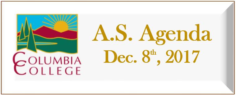 Dec 8th agenda