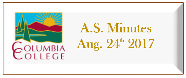 A.S. Minutes August