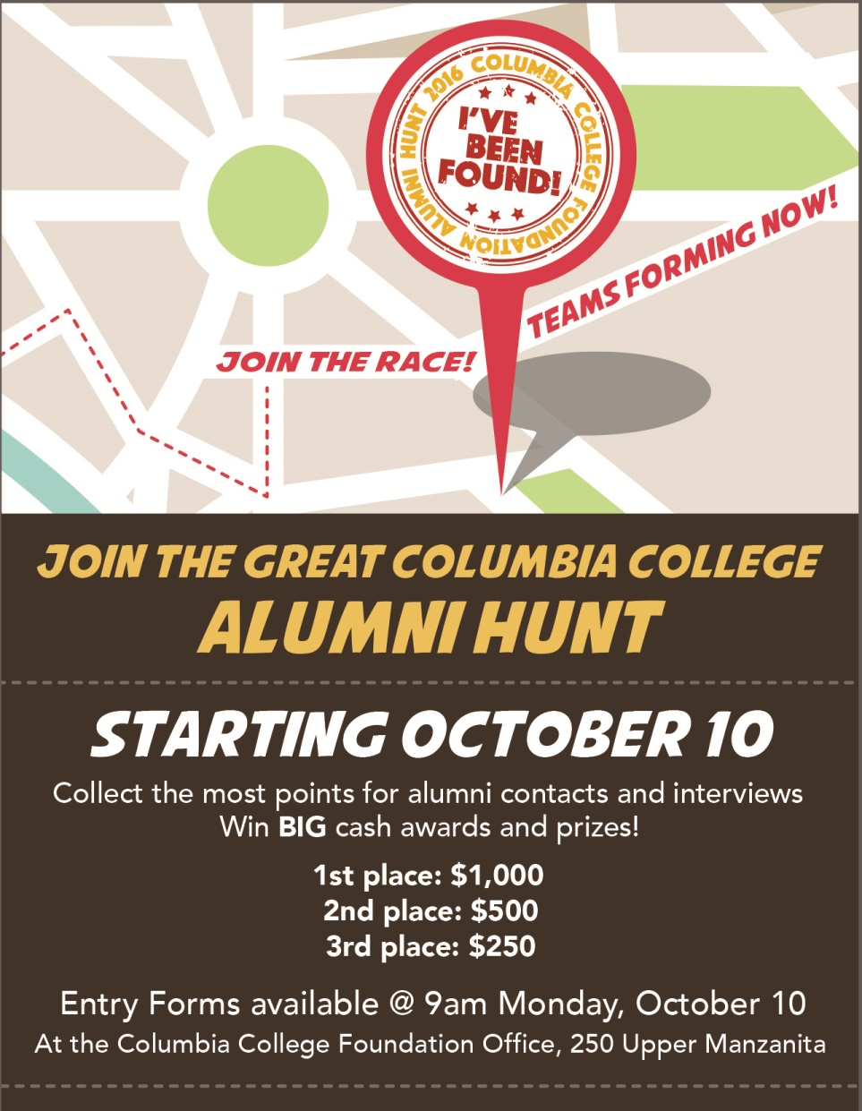Great Columbia College Alumni Hunt