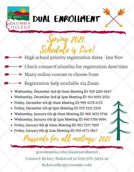 Dual Enrollment Registration Help SP21