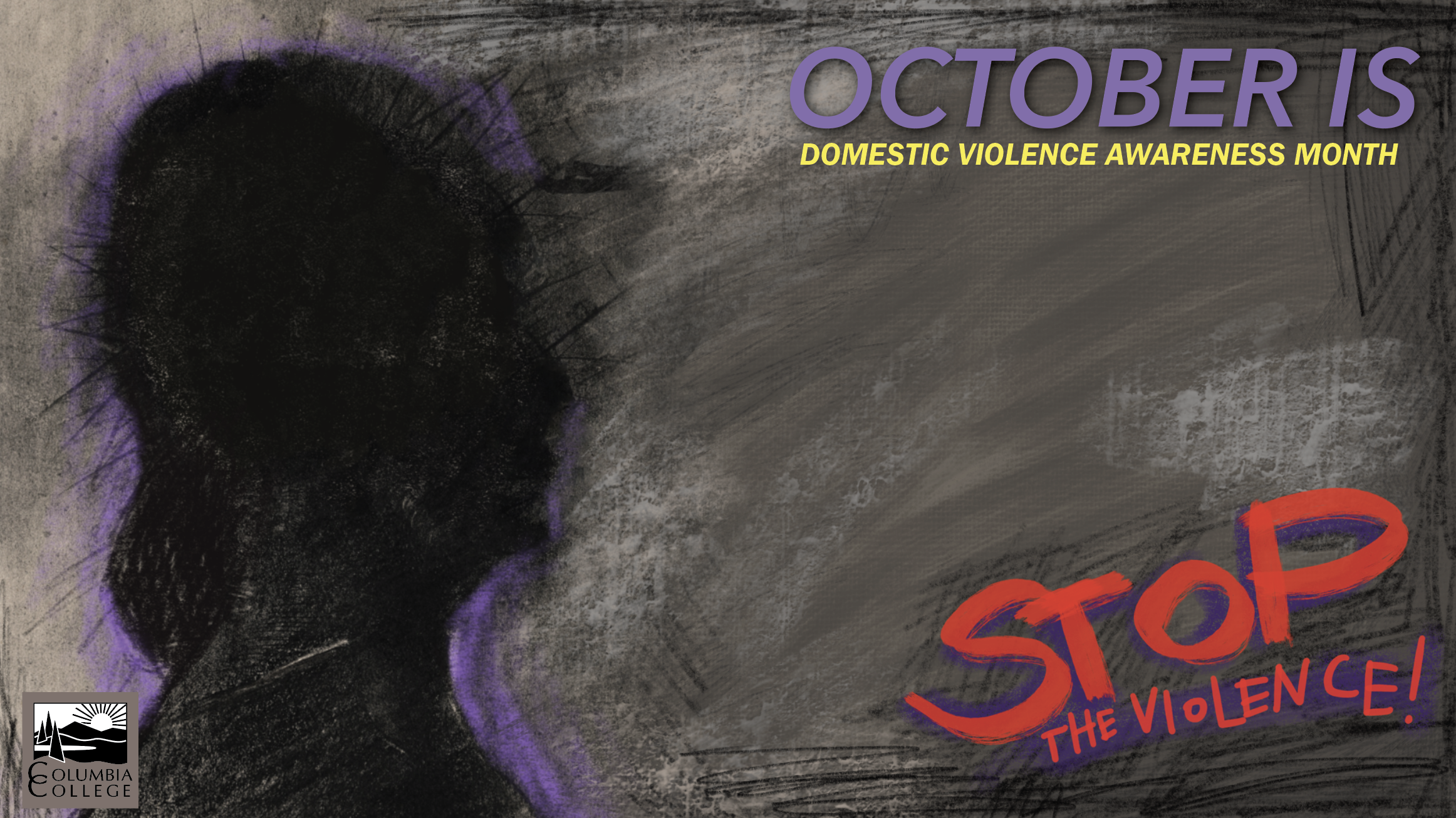 Domestic Violence awareness background