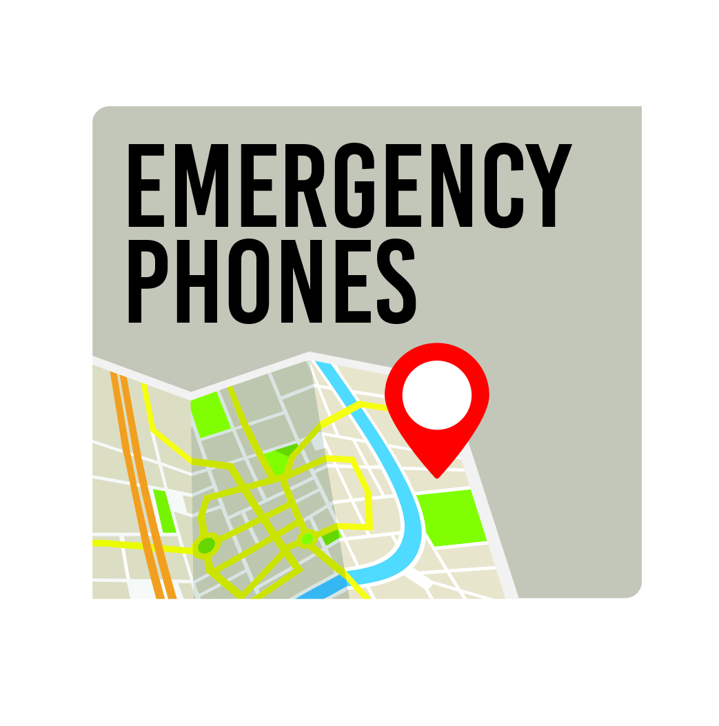Emergency Phone map