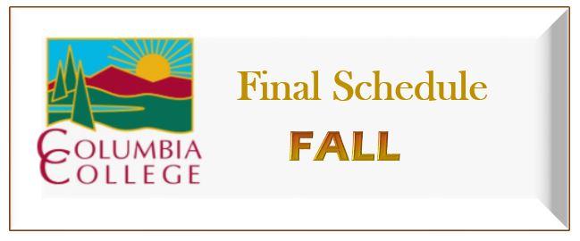 Final Schedule Fall Link