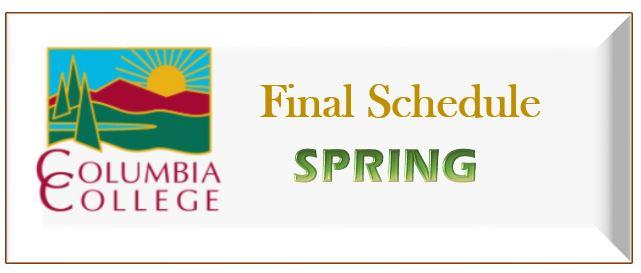 Final Schedule Spring Link