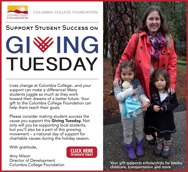Giving Tuesday Columbia College Foundation