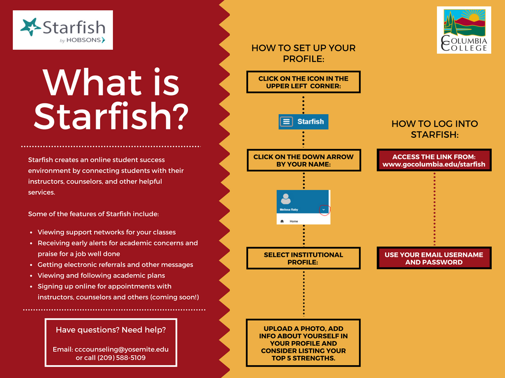 starfish log in and profile information