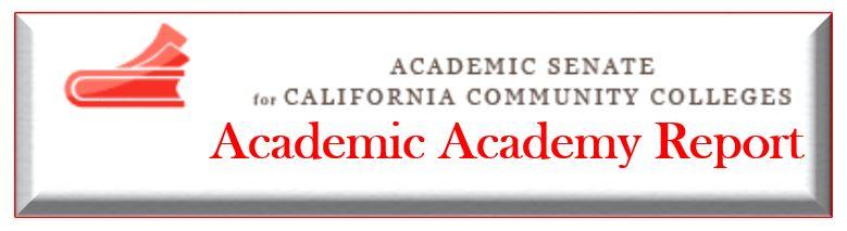 Academic Senate Report Link
