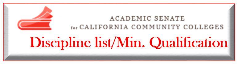 Academic Discipline/Minimum Qualification Link