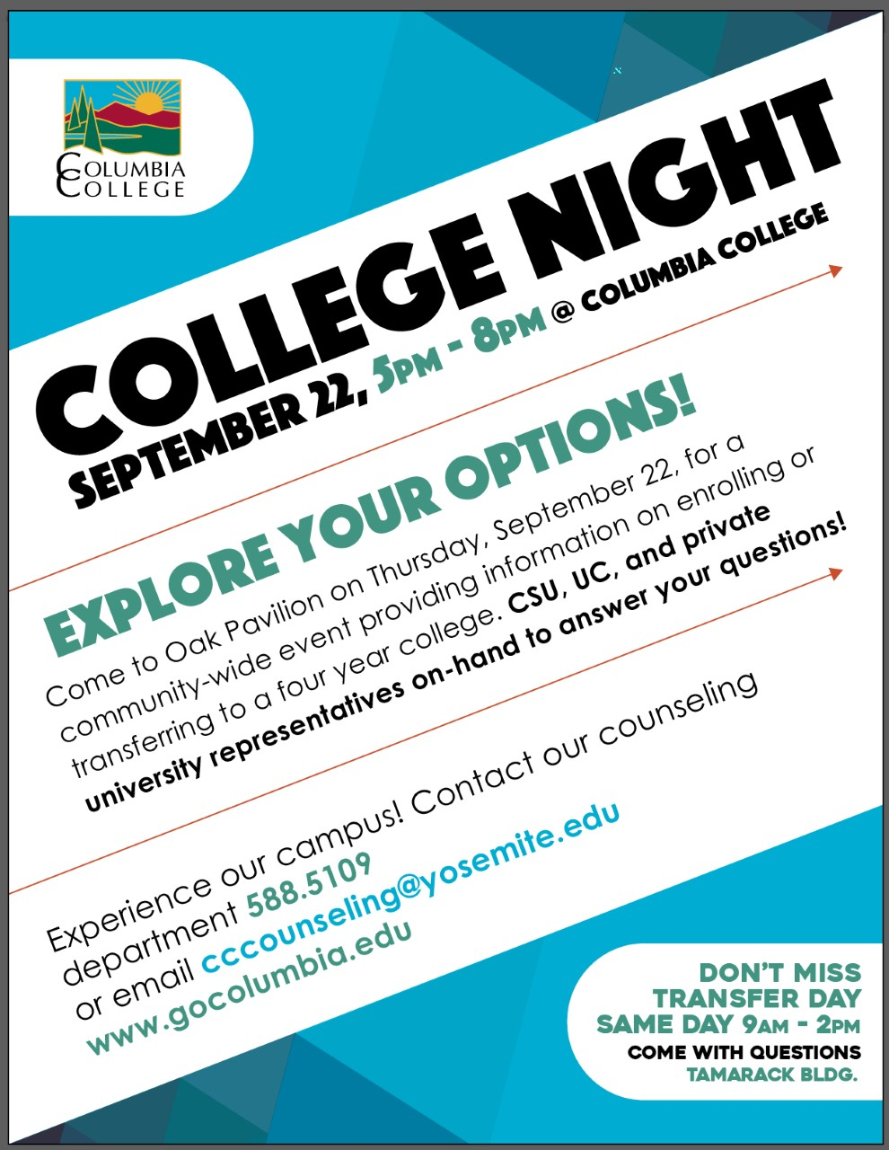 college night 2016 flyer