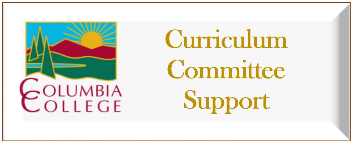 curriculum committee support button