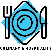 Culinary and hospitality interest area icon