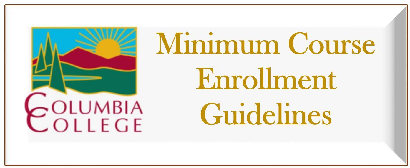 Minimum Course Enrollment Guidelines Link