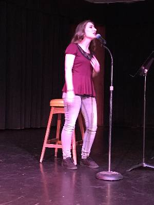 Columbia College students read and recite their favorite poems at the Made in the Foothills April Poetry Night.