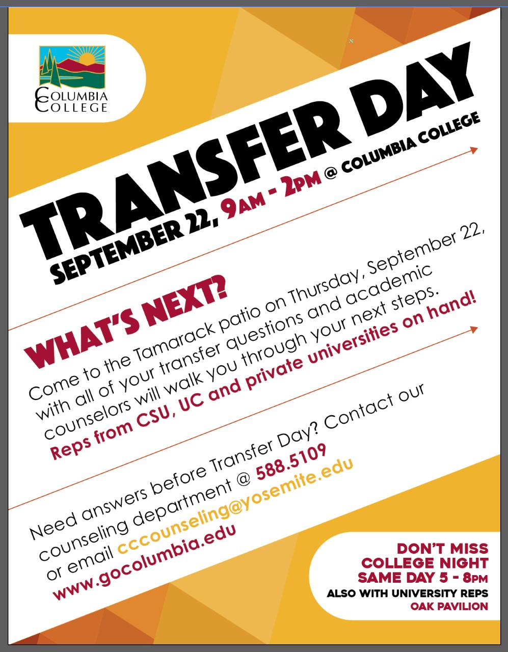transfer day flyer 2016